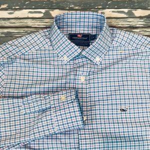 🔥 Vineyard Vines men's XS whale shirt EUC